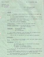 LOT #33 B.A. E.M.2  FFI JURA 1944 RESISTANCE LIBERATION RENSEIGNEMENT ANALYTIQUE MOUTHE PONTARLIER CHAMPAGNOLE - 1939-45