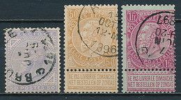 Belgien Nr. 38, 57, 58 ~ Michel 81,-- Euro - 1869-1883 Leopold II.
