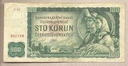 Cecoslovacchia - Banconota Circolata Da 100 Corone P-91a - 1961 - Tchécoslovaquie