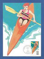 USA 1984 ,  Olympics 84 - Women's Kayaking - Maximum Card - Los Angeles May 4 1984 - Maximumkarten (MC)
