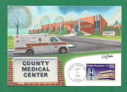 USA 1986 , Public Hospitals - Maximum Card - First Day New York APR 11 1986 - Maximumkarten (MC)