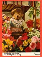 GBB-01 Mecki Dans Les Fleurs. Herzliche Wünsche Für Baldige Genesung. Von Diehl-Film  4420 - Mecki