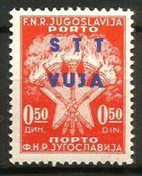 1949 TRIESTE B  Segnatasse  Valore 0,50 Nuovo **MNH - 7. Trieste