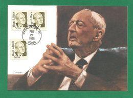 USA 1986 , Hugo Black - Maximum Card - First Day Washington FEB 27 1986 - Maximumkarten (MC)