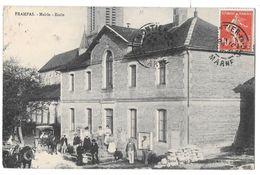 FRAMPAS - Mairie - Ecole (beau Plan Animé - Attelages - Frankrijk