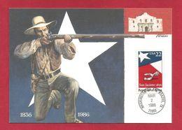 USA 1986 , Texas Statehood - Maximum Card - First Day Washington MAR 2 1986 - Maximumkarten (MC)