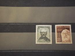ITALIA REPUBBLICA 1952 MANCINI E GEMITO - NUOVI(++) - 1946-60: Mint/hinged