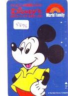 Télécarte Japon DISNEY  (5896) MICKEY MOUSE  * PHONECARD JAPAN * TELEFONKARTE * DISNEY'S WORLD OF ENGLISH - Disney
