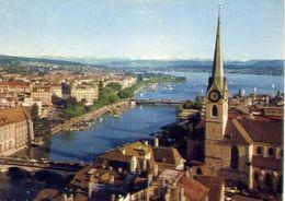 Zurich - Mit Fraumunster - Formato Grande Viaggiata – E 4 - ZG Zoug