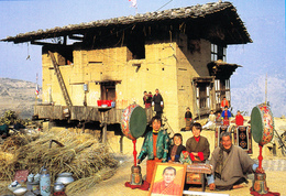 The Namgay Family BHUTAN People And Possessions, Unused 2002 Postcard - Bhoutan