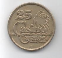 Jeton De Machine à Sou : Casino Caraïbe Sousse .25 (dinar) Tunisie (Diamètre 25 Mm) - Casino