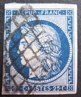 Lot FD/596 - CERES N°4a Bleu Foncé - GRILLE NOIRE - Cote : 75,00 € - 1849-1850 Cérès