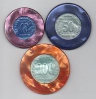Cercle Républicain Paris : Série De 3 Jetons 10 - 50 - 200 Francs (Diamètre 39 45 49 Mm) - Casino