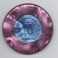 Cercle Républicain Paris : 1 Jeton De 10 Francs (Diamètre 39 Mm) - Casino