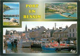 PORT EN BESSIN TOUR VAUBAN FALAISE VUE GENERALE CHALUTIERS - Port-en-Bessin-Huppain