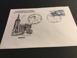 BAILLEUL - Cachet Commémoratif Champi9nnat De France Cycliste 1982 Sur Enveloppe Même Thème. - Marcophilie (Lettres)