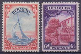 BERMUDA :1936: Y.95,98 Dentelled/ Avec Trace De Charnière/hinged. - Bermudes