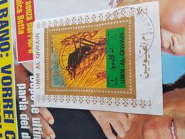 AJMAN SCARAFAGGIO FOGLIETTO ! - Cartoline