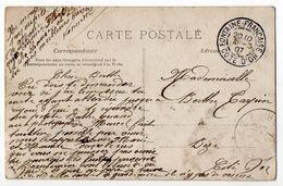 1907--Beau Cachet FONTAINE FRANCAISE-21 Sur  CPA Femme Et Fleurs - Marcophilie (Lettres)