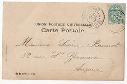 1904-- Cachet  SEIGNELAY - 89  Sur  CPA  Femme Et Fleurs - Marcophilie (Lettres)