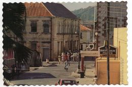 CPSM - GRENADA - SAINT-ANDREW'S - GRENVILLE - MAIN STREET AND POLICE STATION - Animée - Coul - Déb 80 - Orchidées - - Grenada