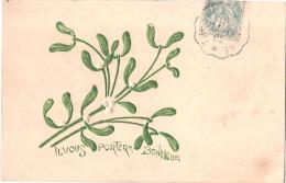 *** Fleurs *** GUI Carte Relief Il Vous Portera Bonheur TTB - Plantes Médicinales