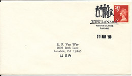 Great Britain Cover Sent To USA New Lanark Visitor Centre Lanmark 11-3-1994 - 1952-.... (Elizabeth II)
