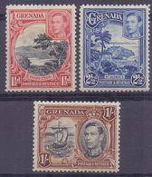 GRENADA :1934: Y.107,109,112 Dentelled/avec Légère Trace De Charnière/lightly Hinged : - Grenade (...-1974)