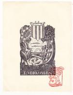 Ex Libris L. Verkuylen / Ontwerp Germaine Cluytmans - Ex-libris