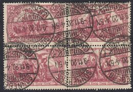 ALLEMAGNE -  DEUTSCHLAND - GERMANIA - 1920 - Quartina Usata Di Yvert 115. - Germany