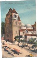 ***  46 *** CAHORS  La Cathédrale Colorisée Jour De Marché  TTB  Timbrée - Cahors