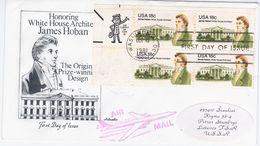 USA United States 1981 FDC James Hoban, White House Architect, Ireland, Canceled In Washington, Zip Code - Premiers Jours (FDC)