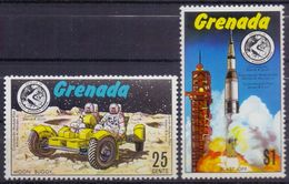 GRENADA :1971: Y.398-403 Dentelled/neufs/MNH:## The Launching To The Moon Of APOLLO ##:AERONAUTICS,SPACE TRAVEL,ROCKET, - Space