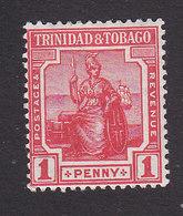 Trinidad And Tobago, Scott #2, Mint Hinged, Britannia, Issued 1913 - Trinidad & Tobago (...-1961)