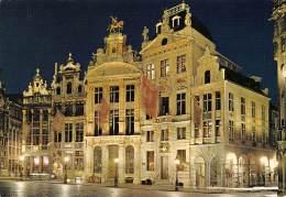 CPM - BRUXELLES - Grand'Place - L'Etoile, Le Cygne, L'Arbre D'Or - Bruxelles La Nuit