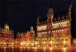 CPM - BRUXELLES - Grand'Place - Maison Du Roi, Roi D'Espagne - Bruxelles La Nuit