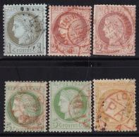 Divers Annuler Lot Sur Ceres Perforé #32 - Marcophily (detached Stamps)