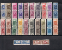 ITALIA  1955/79   PACCHI POSTALI  CORNO DI POSTA E CIFRA  SASS. 82-103   MNH - Paquetes Postales