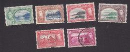 Trinidad And Tobago, Scott #50-52, 52A, 53A, 54, Used, Scenes Of Trinidad And Tobago, Issued 1938 - Trinidad & Tobago (...-1961)