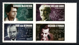 UNITED STATES 2005 American Scientists (1st Series) S/ADH: Block Of 4 Stamps UM/MNH - Stati Uniti