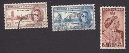 Trinidad And Tobago, Scott #62-64, Used, Peace, Silver Wedding, Issued 1946-48 - Trinidad & Tobago (...-1961)