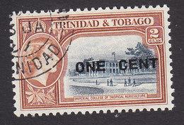 Trinidad And Tobago, Scott #85, Used, Scene Of Trinidad And Tobago Surcharged, Issued 1956 - Trinidad & Tobago (...-1961)