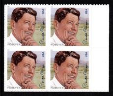 UNITED STATES 2011 Birth Centenary Of Ronald Reagan S/ADH: Block Of 4 Stamps UM/MNH - Verenigde Staten