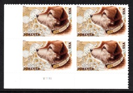UNITED STATES 2011 Owney The Post Dog S/ADH: Block Of 4 Stamps UM/MNH - United States