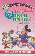 Telecarte Japon / 290-26507 - DISNEY ON ICE - MICKEY SIRENE PICSOU Ecureuil Squirrel - Japan Phonecard - Disney