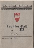 FECHTER PASS 1957, 36 Seiten, Foto Abgelöst - Historische Dokumente