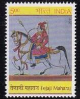 India MNH 2011, Tejaji Maharaj, Horse, Royal, Archer, Archery, - Unused Stamps