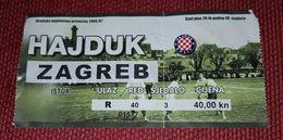 HAJDUK SPLIT- NK ZAGREB 2006/ 2007 - Match Tickets
