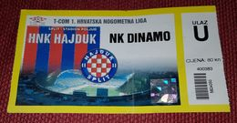 HAJDUK SPLIT- NK DINAMO ZAGREB - Match Tickets