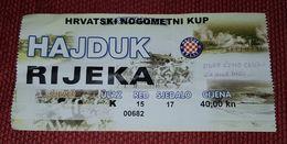 HAJDUK SPLIT- NK RIJEKA CUP MATCH - Match Tickets